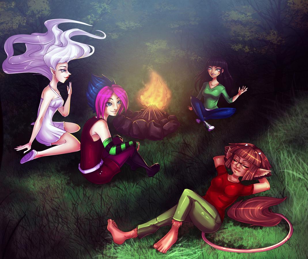 Stella, Siri, Katrine and Mirabel by Sonten